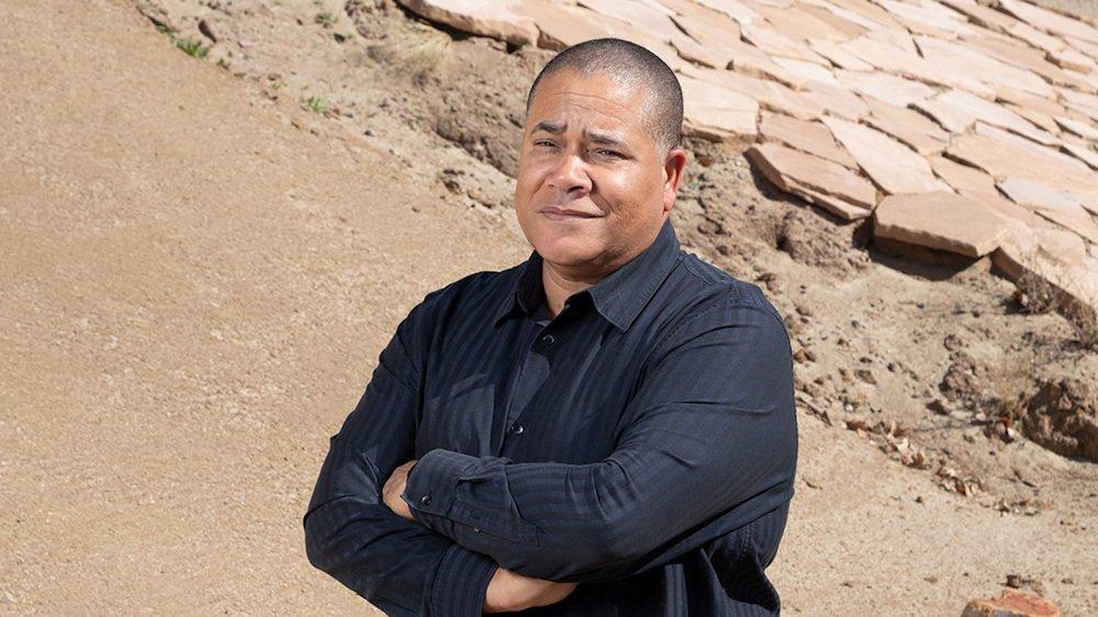 Bill Allen in JPL's 'Mars Yard'
