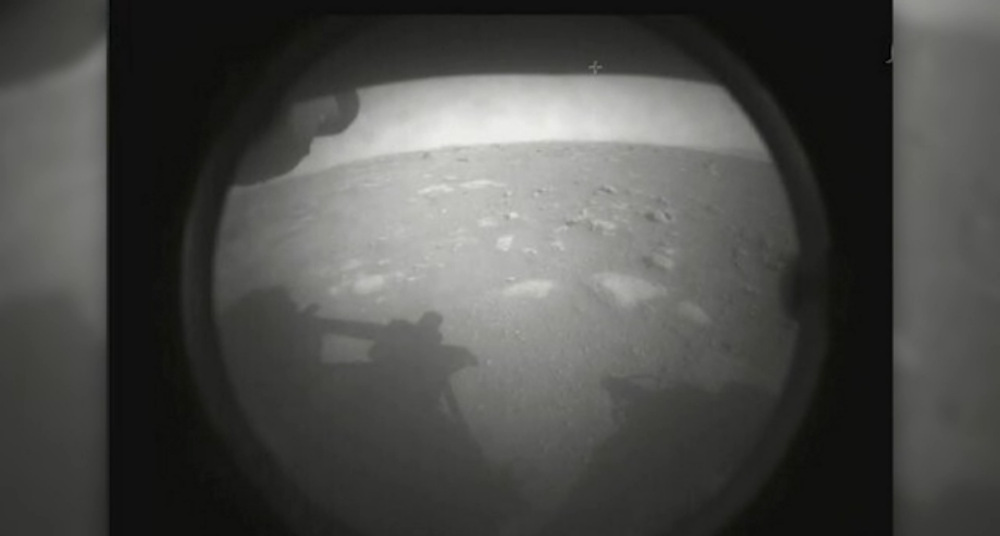 First image from Mars Perseverance rover after Thursday's successful landing