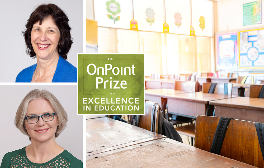 OnPoint Communty Credit Union 2020 Educators of the year, Carolyn Buskupic Knight and Kerryn Henderson