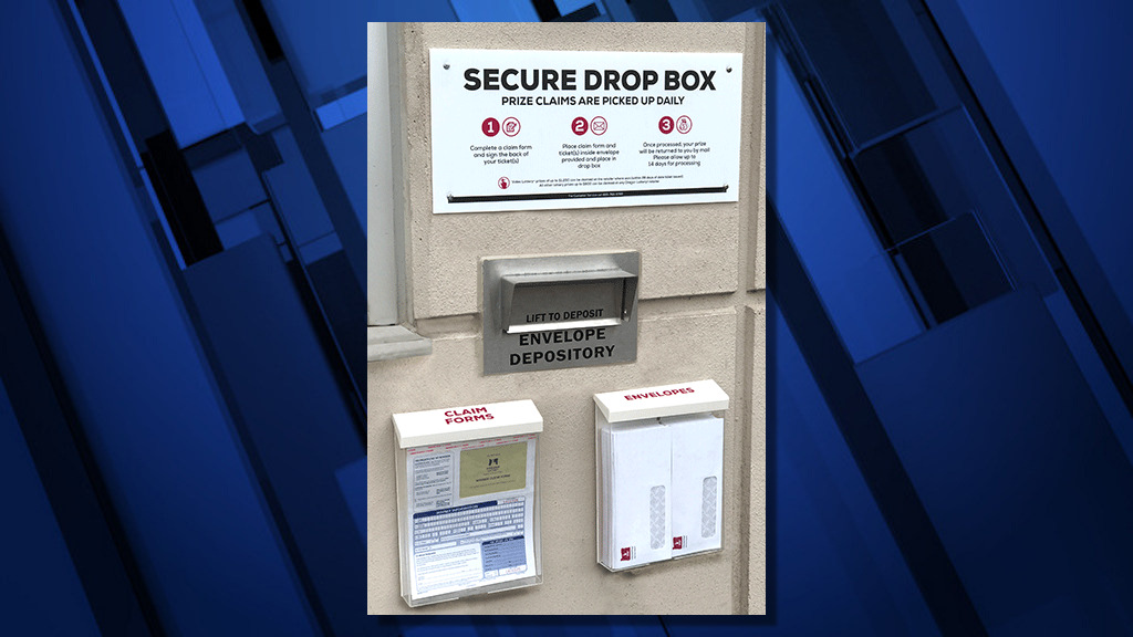 New Oregon Lottery drop box at Salem offices