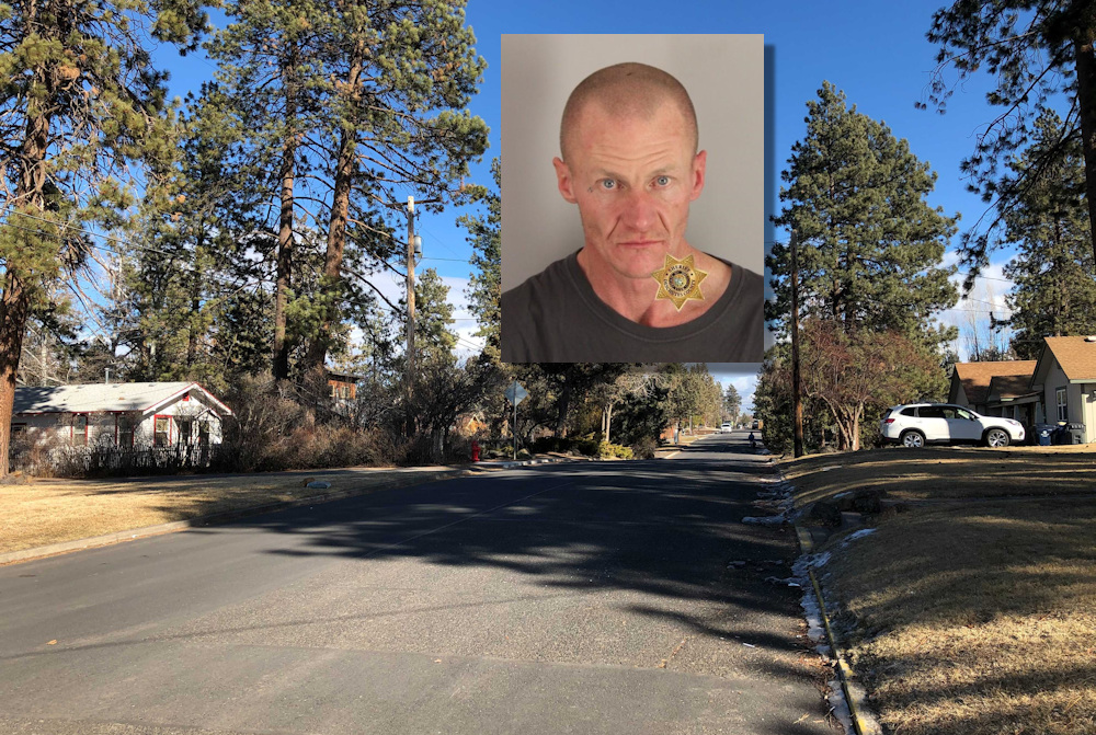 Bend police say a homeowner on SE Roosevelt Ave. held attempted burglary suspect Ryan Unverzagt at gunpoint until officers arrived.