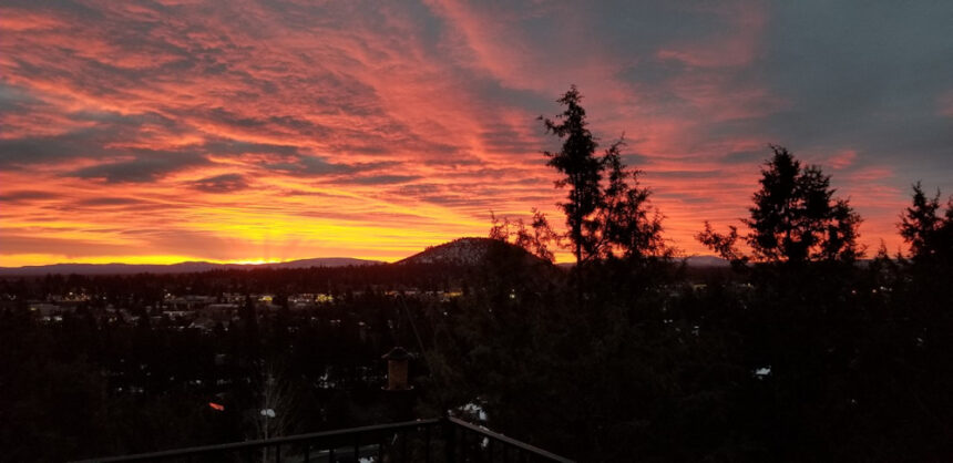 Sunrise overlooking Bend Kim Reid