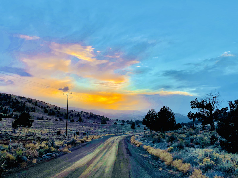 Sunset road from Post to Prineville Steven Post 21
