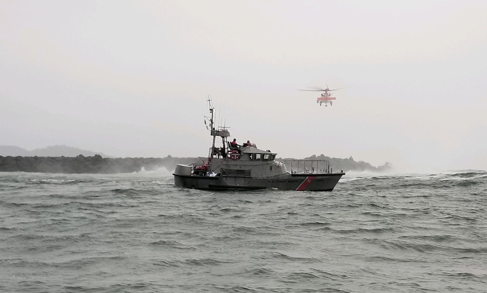 Tillamook County Sheriff's Office, Coast Guard were involved in rescue after fishing boat capsized Saturday near the mouth of Tillamook Bay