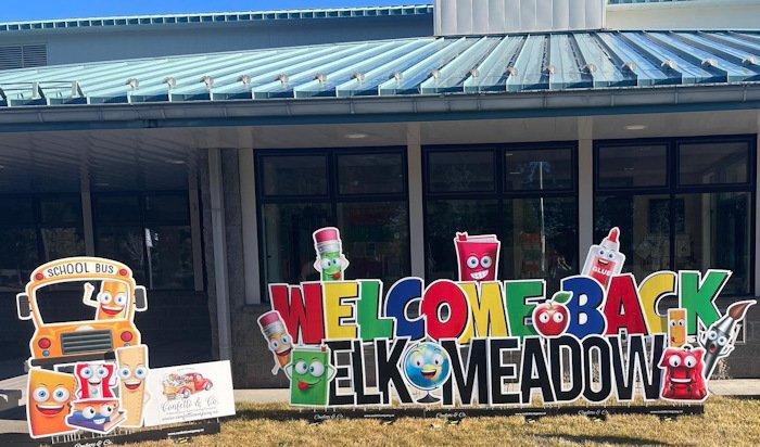 Teachers, staff welcomed students back to Elk Meadow Elementary School in mid-January