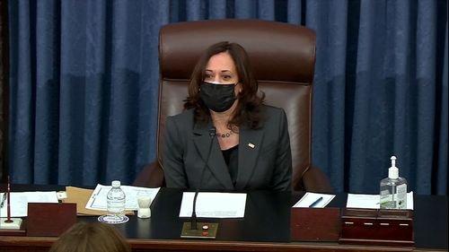 Vice President Kamala Harris Breaks Her First Tie, Passes