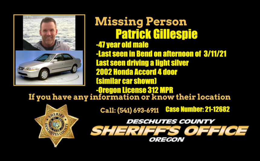 DCSO missing person Patrick Gillespie