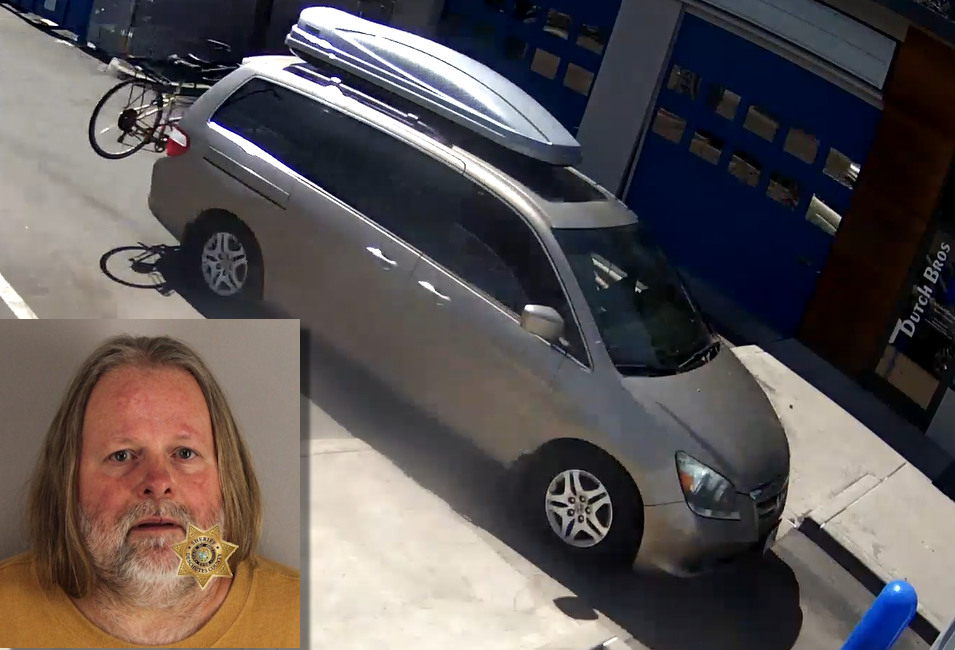 Thomas Lee Barlow was arrested after witnesses said he was driving gold minivan suspiciously following 2 teens on Sunday