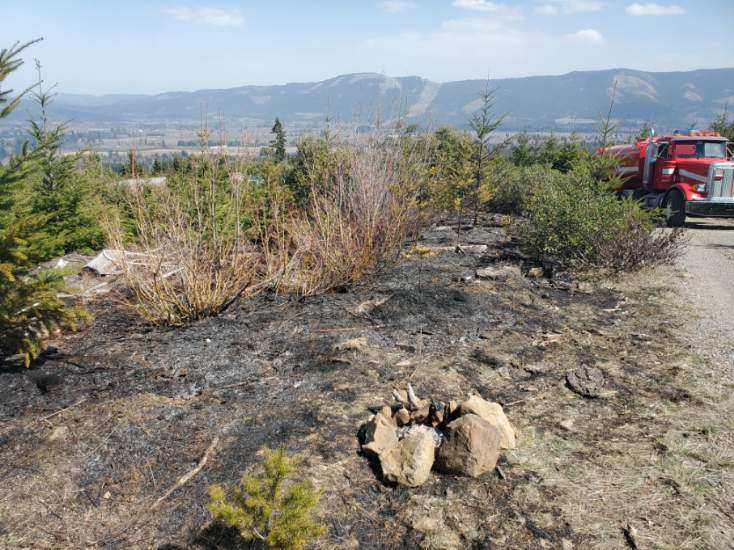 Recent fire in ODF's The Dalles Unit, sparked by an abandoned campfire