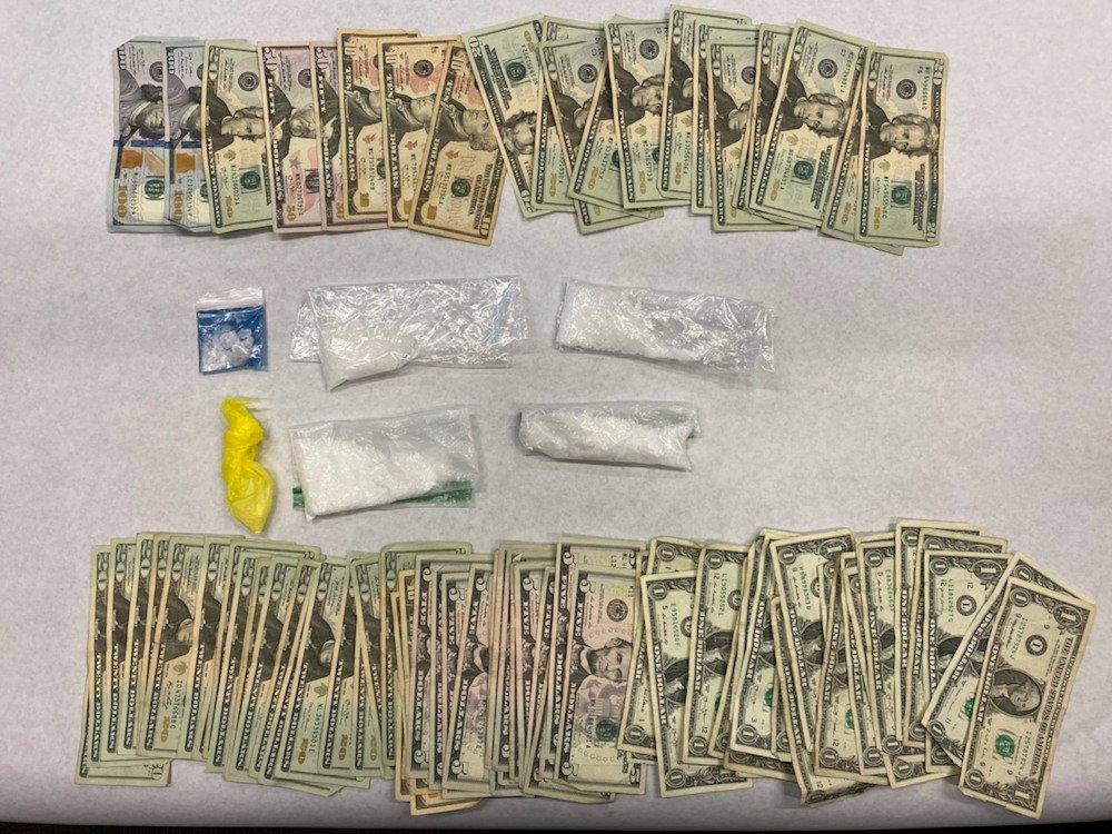 Madras police displayed, cash, drugs seized in raid on trailer