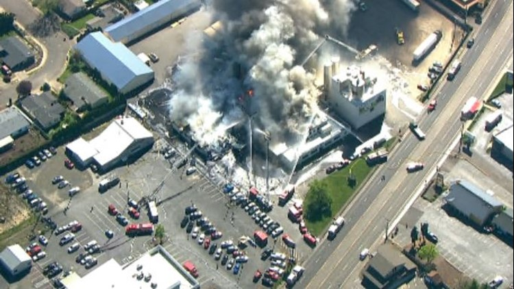 Fire at a McMinnville creamery prompted evacuations Tuesday afternoon
