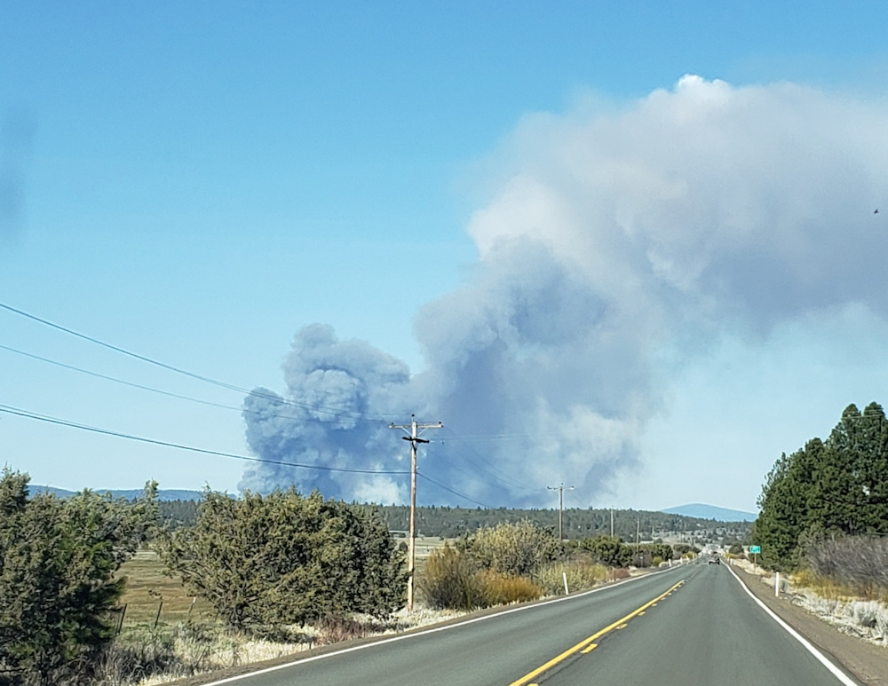 Ponima Fire broke out Sunday near Bly in Klamath County, grew to 1,400 acres