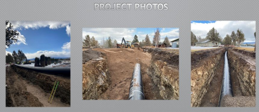 Tumalo Irrigation District canal piping