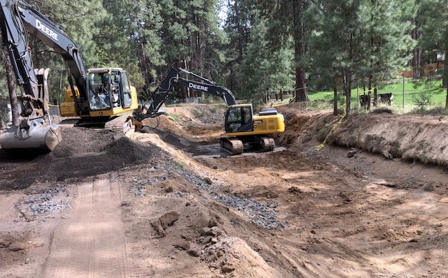 Arnold Irrigation main canal is being repaired after sinkhole emerged