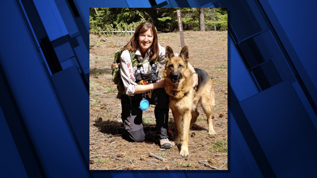 Deschutes County Sheriff's Office Search and Rescue K-9 Hunter and handler Jenny Reindel