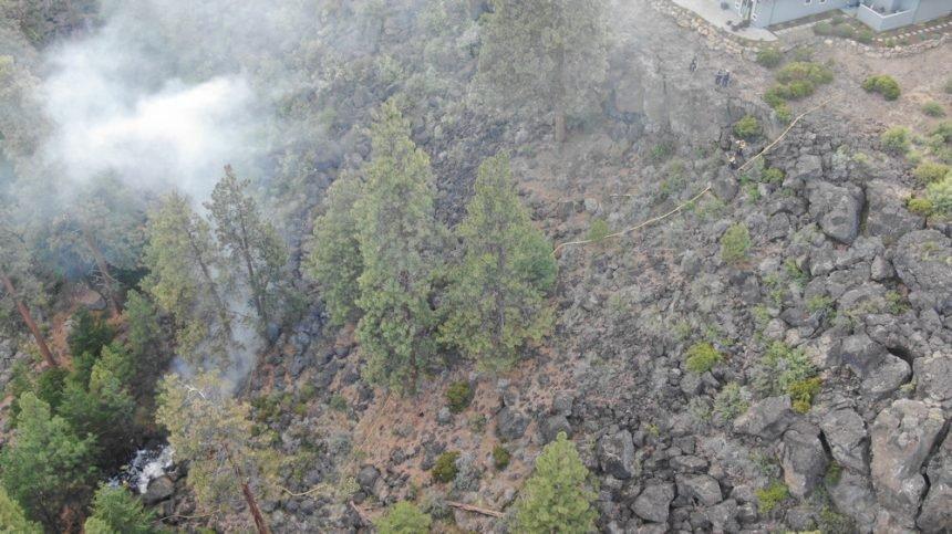 Deschutes River Canyon fire drone Bend PD 524