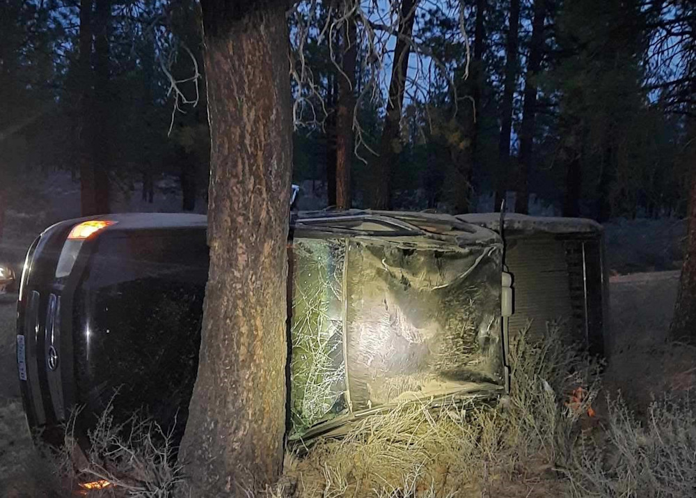 Pickup truck carrying 5 teens left Forest Service road south of Bend, rolled several times, Deschutes County sheriff's deputies say