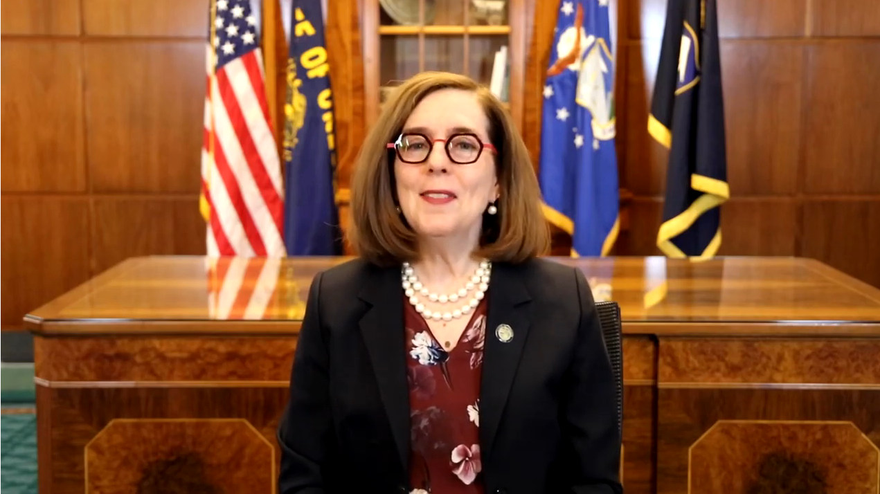 Gov. Kate Brown issued video statement on new CDC mask guidance