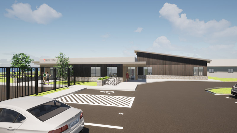 Rendering of Pacific Power's new Central Oregon service center, training facility at Bend's Juniper Ridge