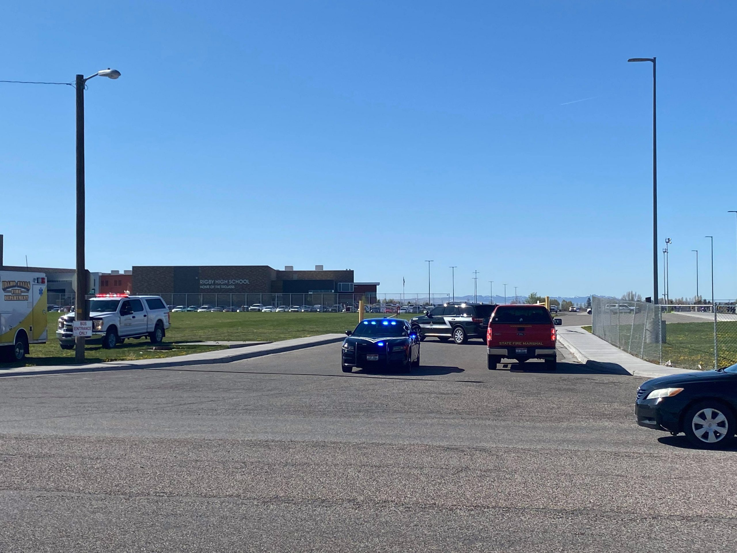 Officials were on the scene of a shooting at Rigby Middle School in Rigby, Idaho on Thursday