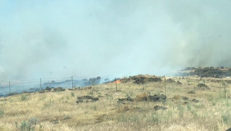 Brush fire west of The Dalles on Wednesday prompted evacuations, I-84 closure