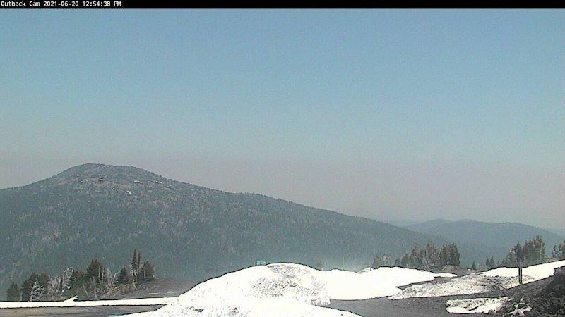 Mt. Bachelor Outback smoky haze toward Bend