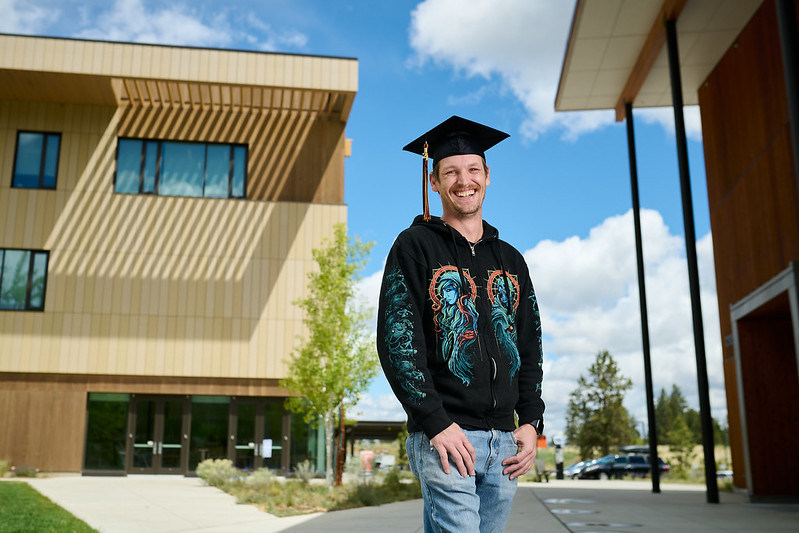 Shane Welsh of Bend is graduating from OSU- Cascades with a bachelor's degree in natural resources