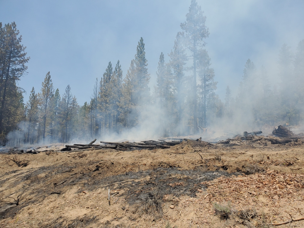 Smoke rises Monday from the Sycan River Fire on the Fremont-Winema National Forest in Klamath County