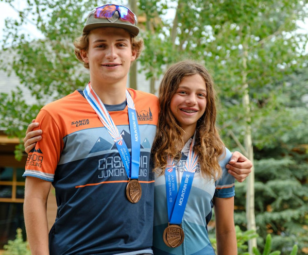 Mountain bikers Ian Brown and Jenna Redmond did well at Nationals