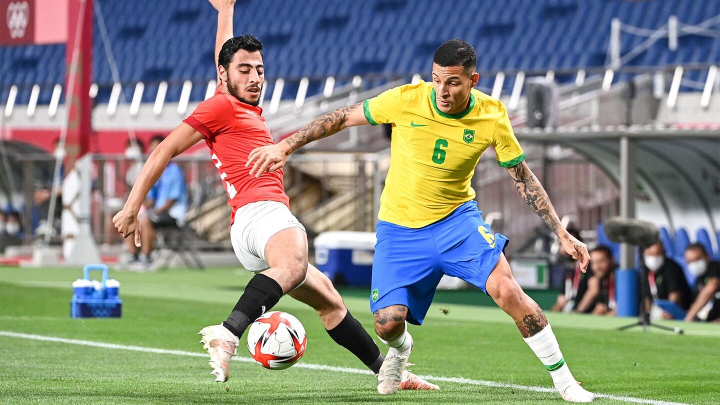Brazil pushes past Egypt 1-0 to advance to semifinals