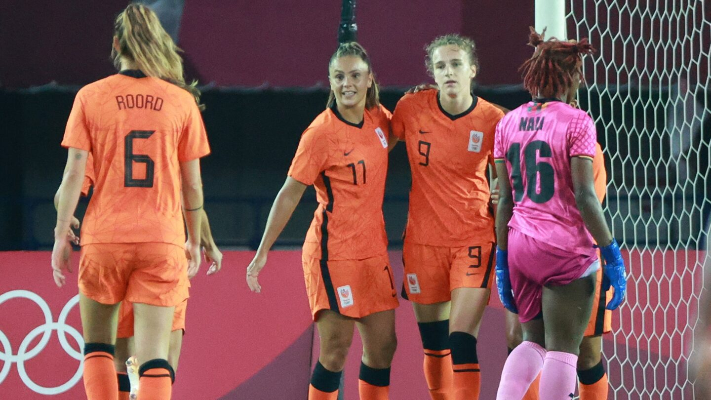 Netherlands' Miedema pulls hat trick goal against Zambia