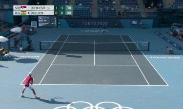 Novak Djokovic cruises to Round 1 victory in Tokyo