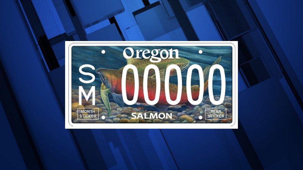 New design for Oregon salmon license plates