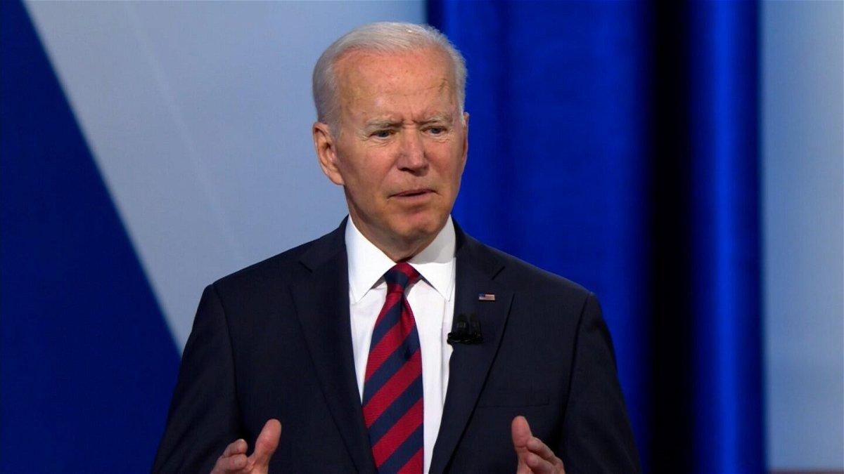 <i>CNN</i><br/>President Joe Biden participates in a CNN town hall on July 21 in Cincinnati