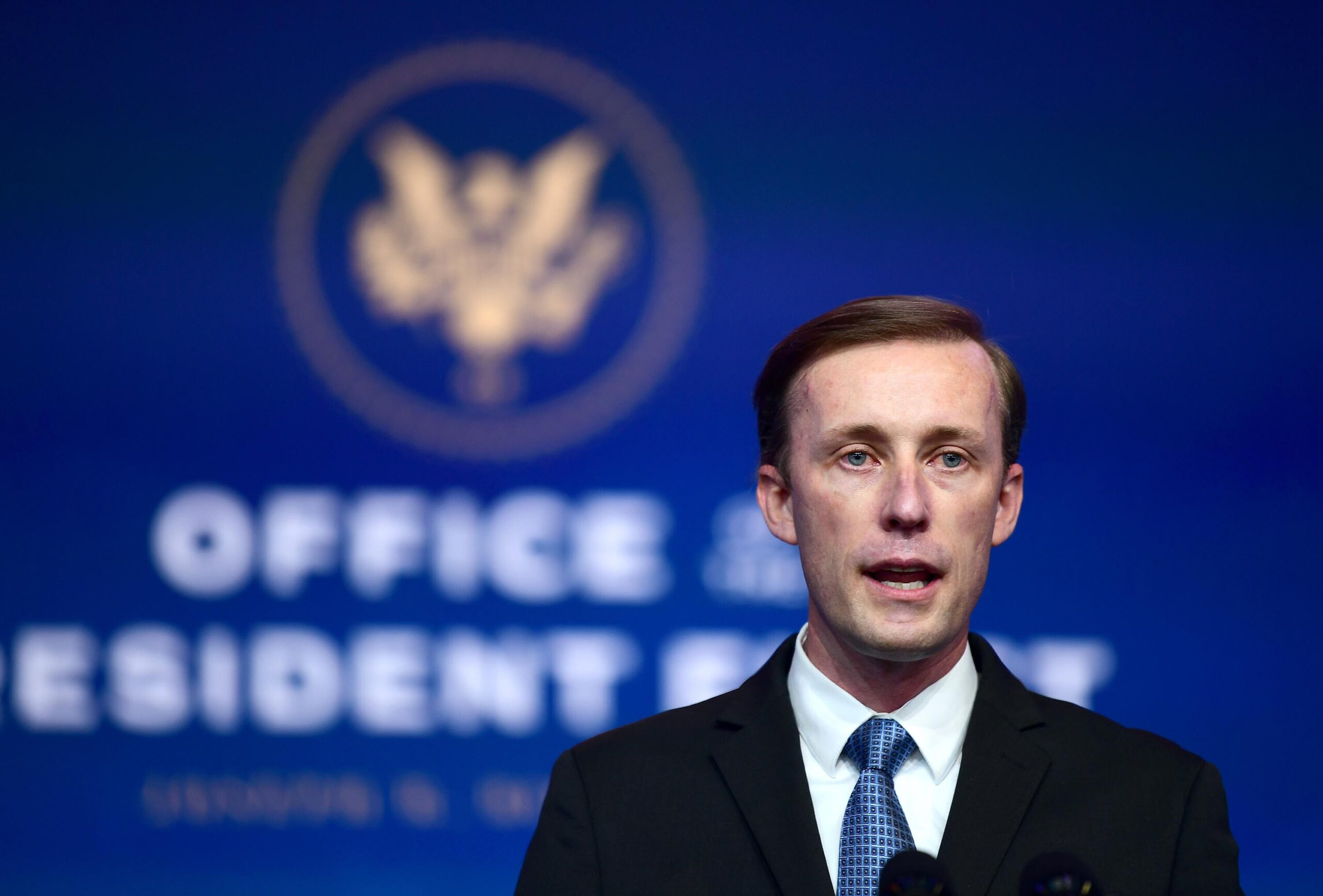 <i>Mark Makela/Getty Images</i><br/>National security adviser Jake Sullivan reminded senior White House staff on July 29 of the stakes of passing the burgeoning $1 trillion bipartisan infrastructure bill