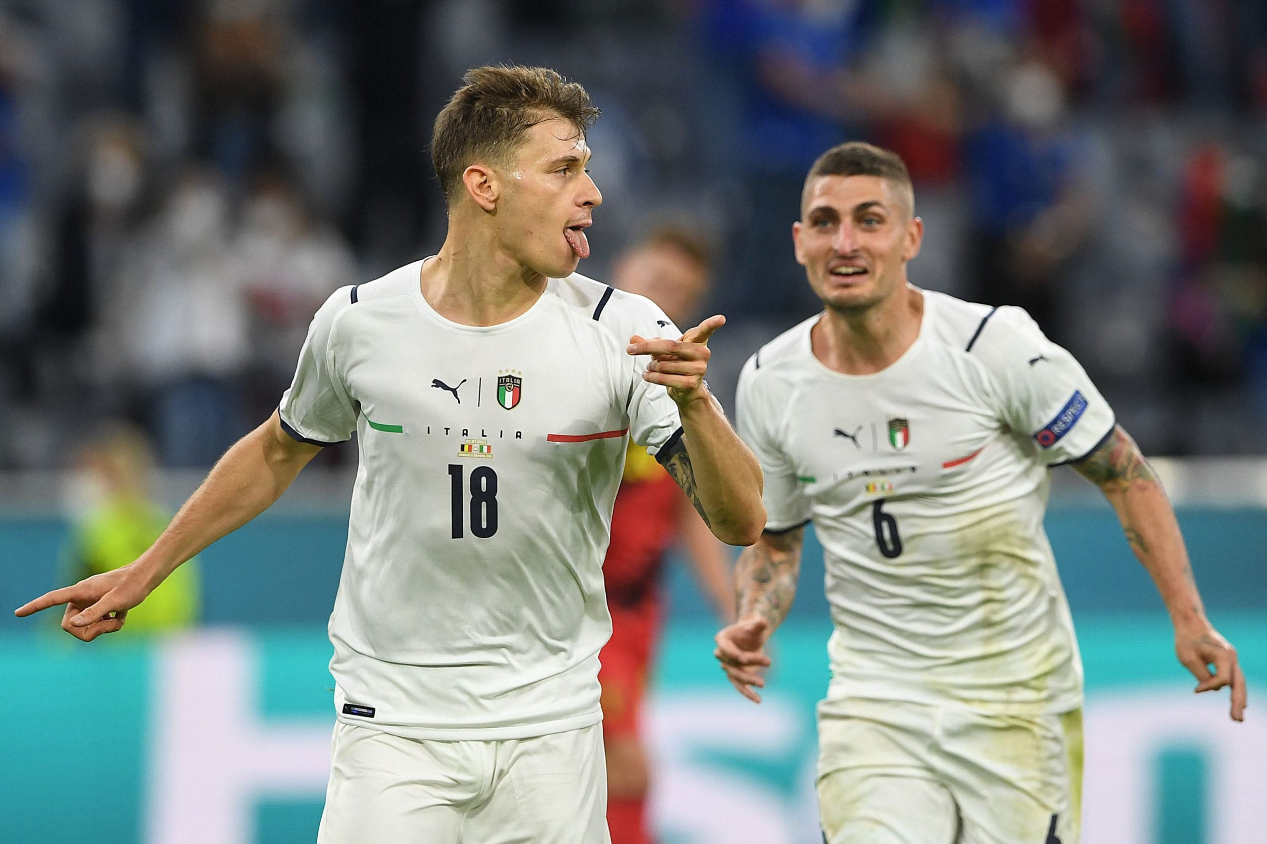 <i>CHRISTOF STACHE/AFP/POOL/AFP via Getty Images</i><br/>Italy thrilled once again to knock out Belgium and advance to the semifinals.