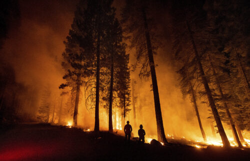 President Joe Biden and Vice President Kamala Harris will meet with seven governors on July 30 to talk about how states are responding to a devastating Western wildfire season -- and how the federal government can assist.