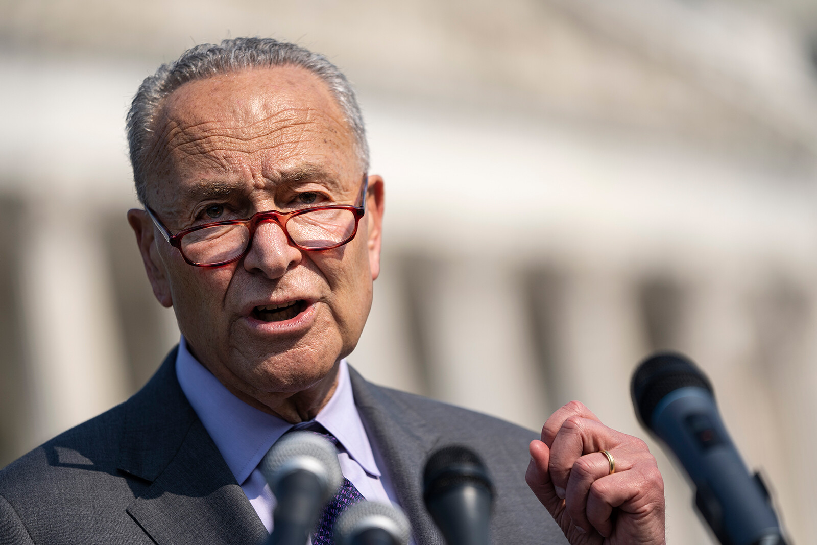 <i>Drew Angerer/Getty Images</i><br/>Over two dozen youth-focused organizations and more than 100 other young people sent Senate Majority Leader Chuck Schumer a letter