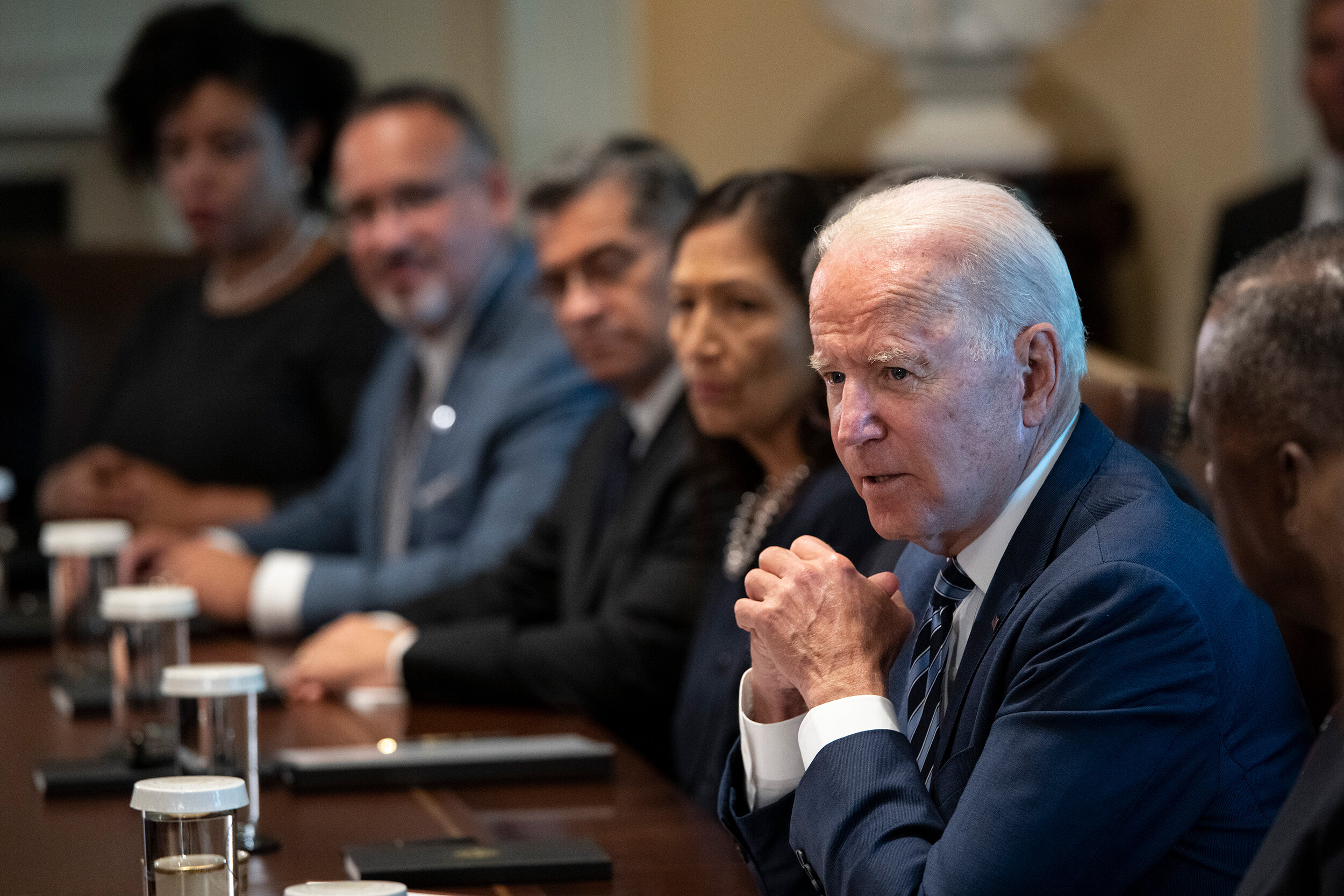 <i>Drew Angerer/Getty Images North America/Getty Images</i><br/>U.S. President Joe Biden speaks at the start of a Cabinet meeting in the Cabinet Room of the White House on July 20
