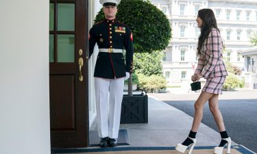 Singer Olivia Rodrigo arrives at the White House to promote the Covid-19 vaccine on July 14