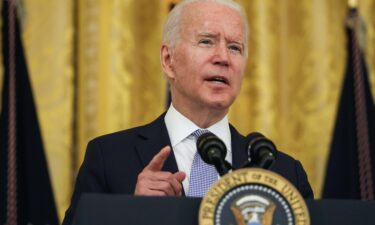 President Joe Biden will discuss applying new sanctions on the Cuban regime when he meets with Cuban-American leaders at the White House on Friday. Biden is shown here in the East Room of the White House on July 29