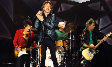The Rolling Stones perform live at Adelaide Oval on October 25