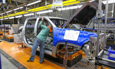A 2020 Chevrolet Silverado HD in the trim shop on January 24