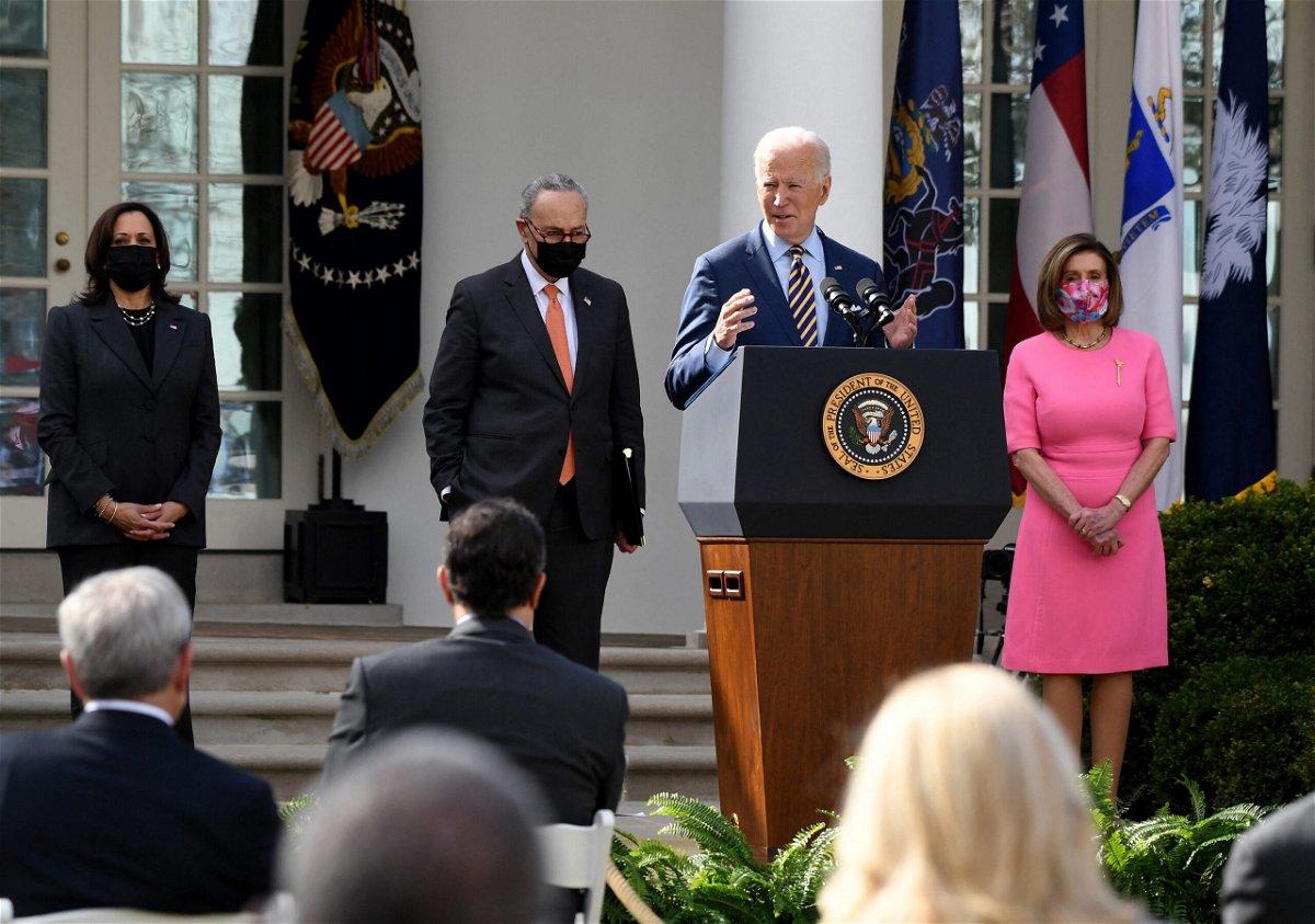 <i>Olivier Douliery/AFP/Getty Images</i><br/>US President Joe Biden