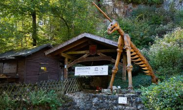 This is the public entrance to the Einhornhöhle cave
