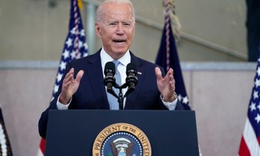 President Joe Biden delivers a speech on voting rights at the National Constitution Center on July 13 in Philadelphia. White House officials are devising ways to fight the spread of dangerous falsehoods about Covid-19 vaccines