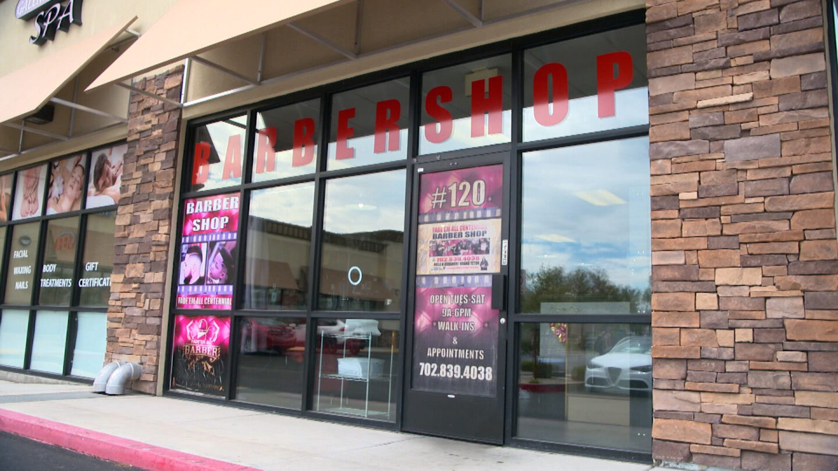 <i>Kacey Cherry/CNN</i><br/>An exterior shot of one of Robert Taylor's barbershops.