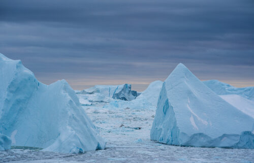 Warmer coastal water melts the Greenland ice sheet around the edges