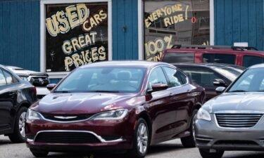 A used car dealership is seen in Laurel