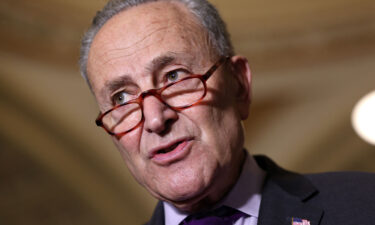 The Senate took the next step on Friday to bring up a roughly $1 trillion bipartisan infrastructure deal that will fulfill key priorities in President Joe Biden's agenda. Senate Majority Leader Charles Schumer is shown here speaking to reporters following a Senate Democratic luncheon at the U.S. Capitol on June 15